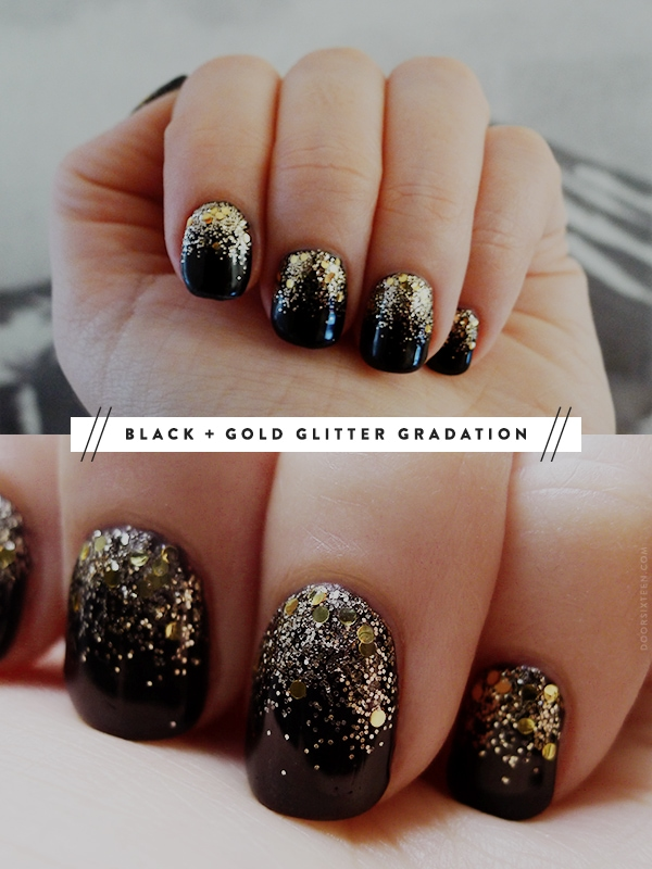 Toe Nail Design Black And Gold ~ Black and gold toe nail designs images