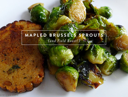 Mapled Brussels Sprouts
