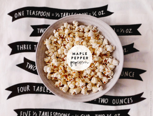 maple pepper popcorn