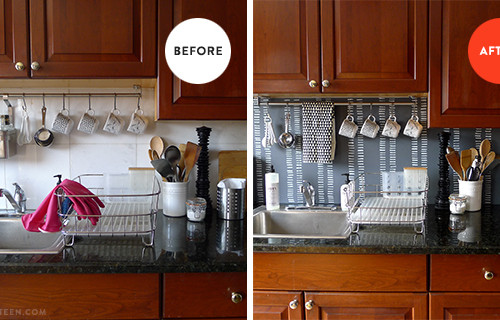 backsplash before & after