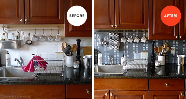 Backsplash Before After
