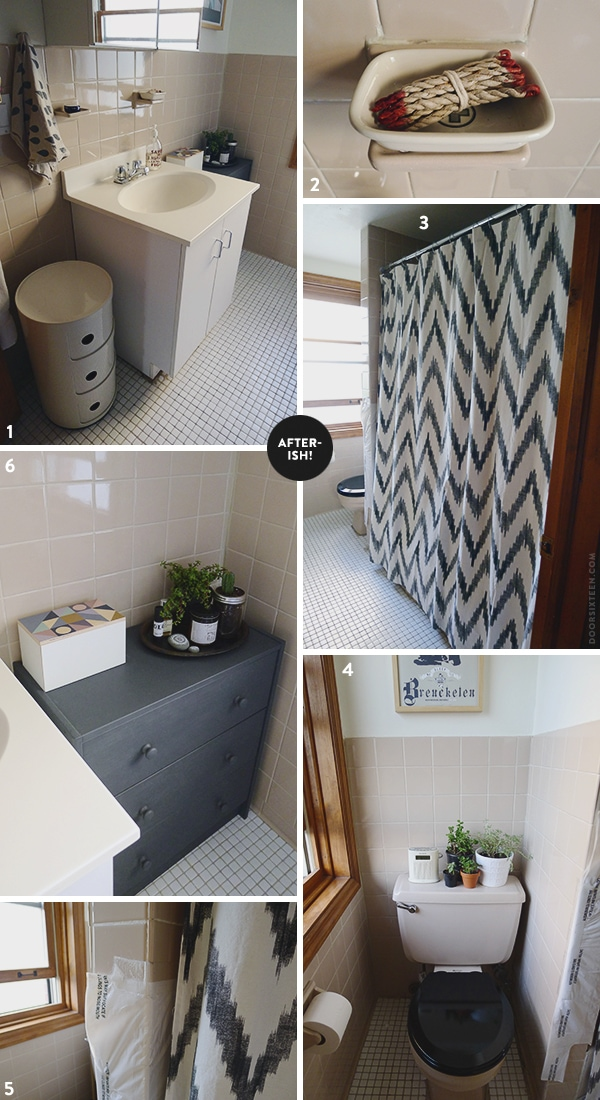 Ugly Bathroom Decorating Ideas : The new apartment bathroom door sixteen