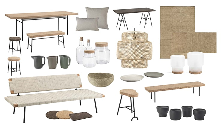 Ilse Crawford Ikea Sinnerlig ~ Oh, and check out the jute sling under the dining table! Nice for