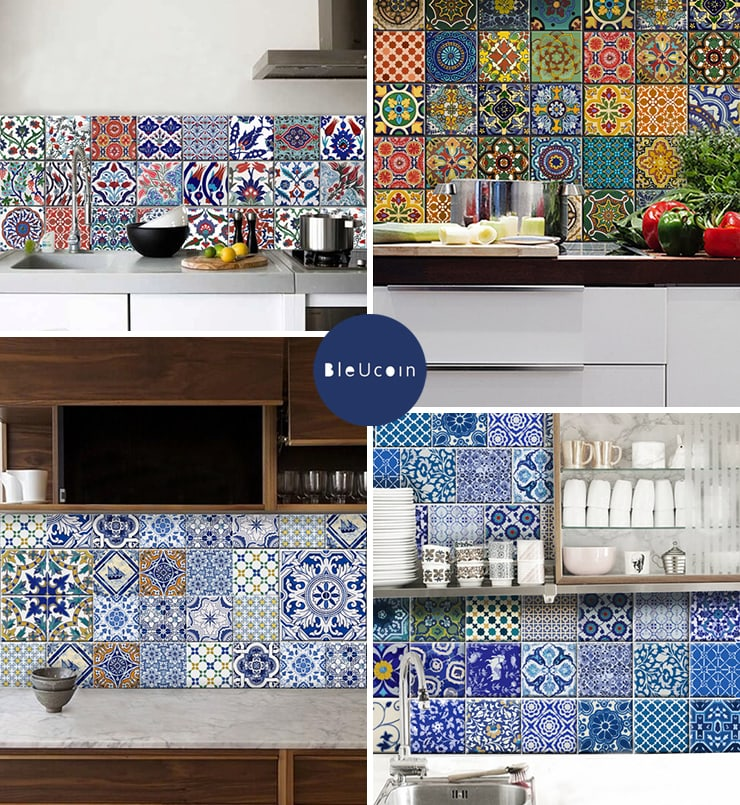 Incroyable BleUcoin Tile Decals   Doorsixteen.com