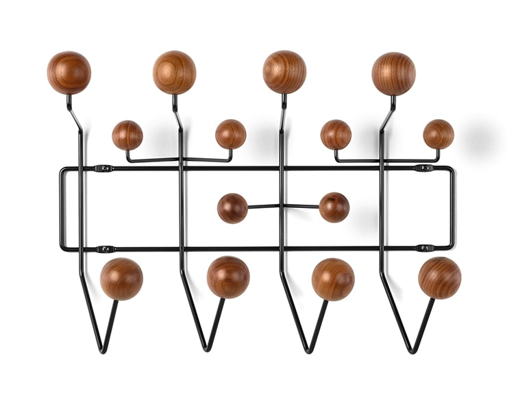the walnut eames hang it all is back door sixteen. Black Bedroom Furniture Sets. Home Design Ideas