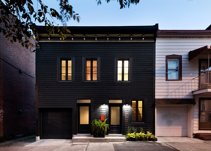 black house in montreal designed by architecture open form doorsixteencom - Black House 2016