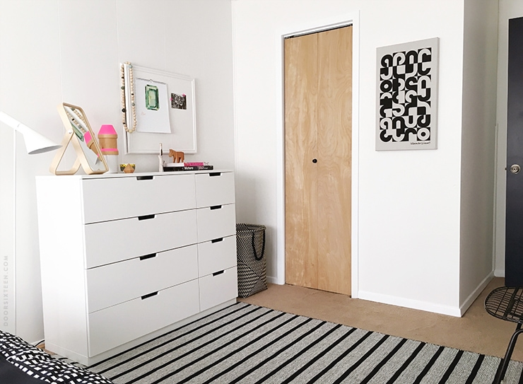 Adding functionality to the bedroom with ikea door sixteen for Bedroom dressers ikea