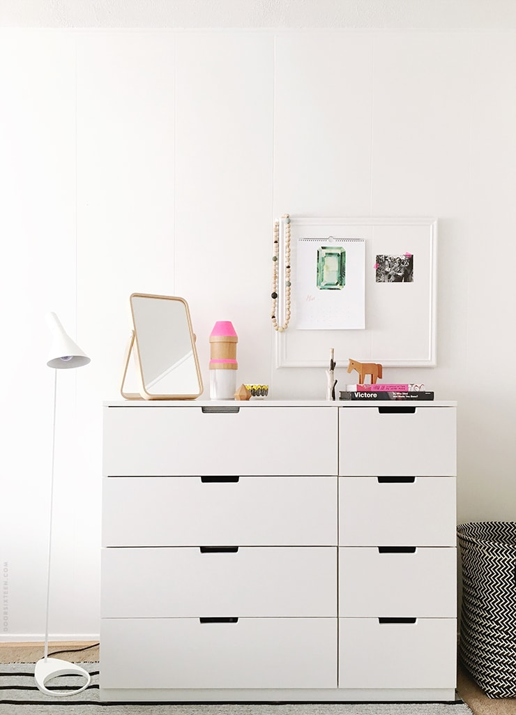 IKEA bedroom makeover - doorsixteen.com